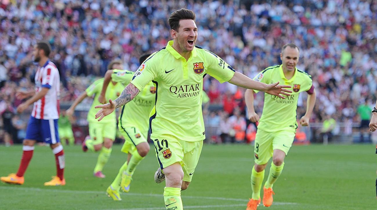 Barcelona Lionel Messi goal Atletico Madrid La Liga
