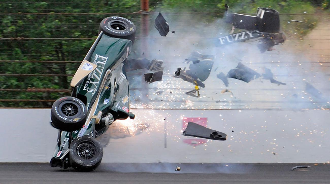 Indy 500 qualifying Ed Carpenter crash