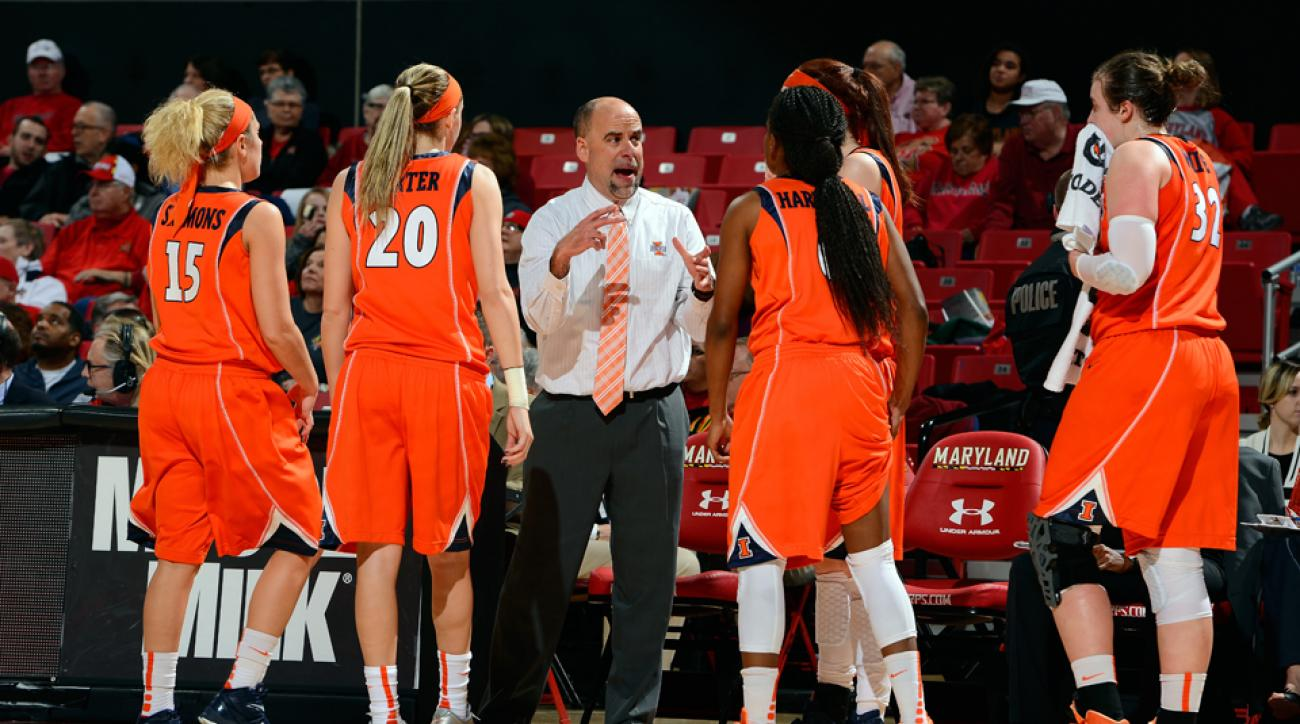 Illinois women's basketball head coach Matt Bollant