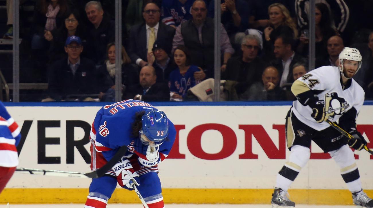 Mats Zuccarello head injury New York Rangers skating out indefinitely Tampa Bay Lightning