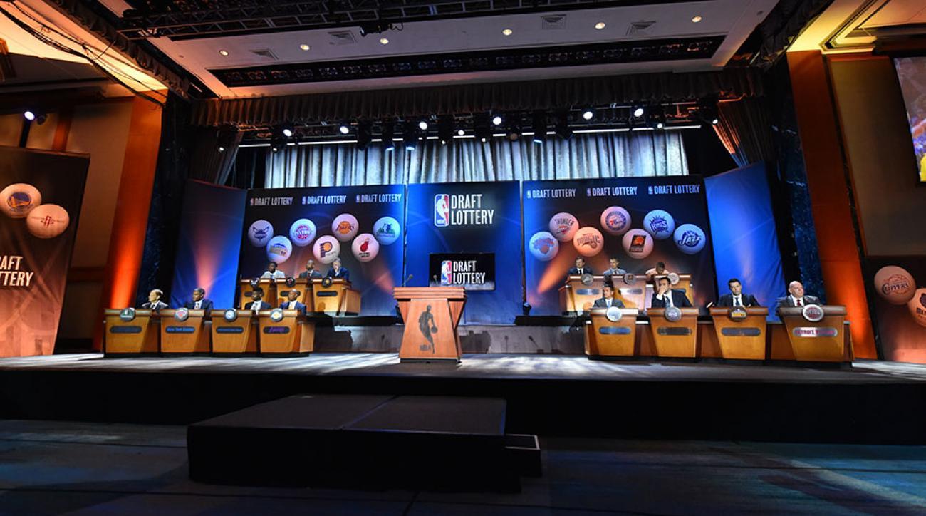 NBA draft lottery reaction players Lakers Knicks