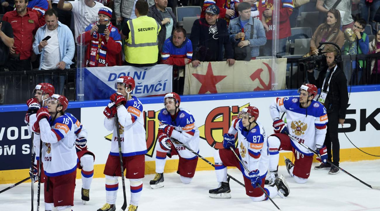 Russia faces punishment for anthem snub