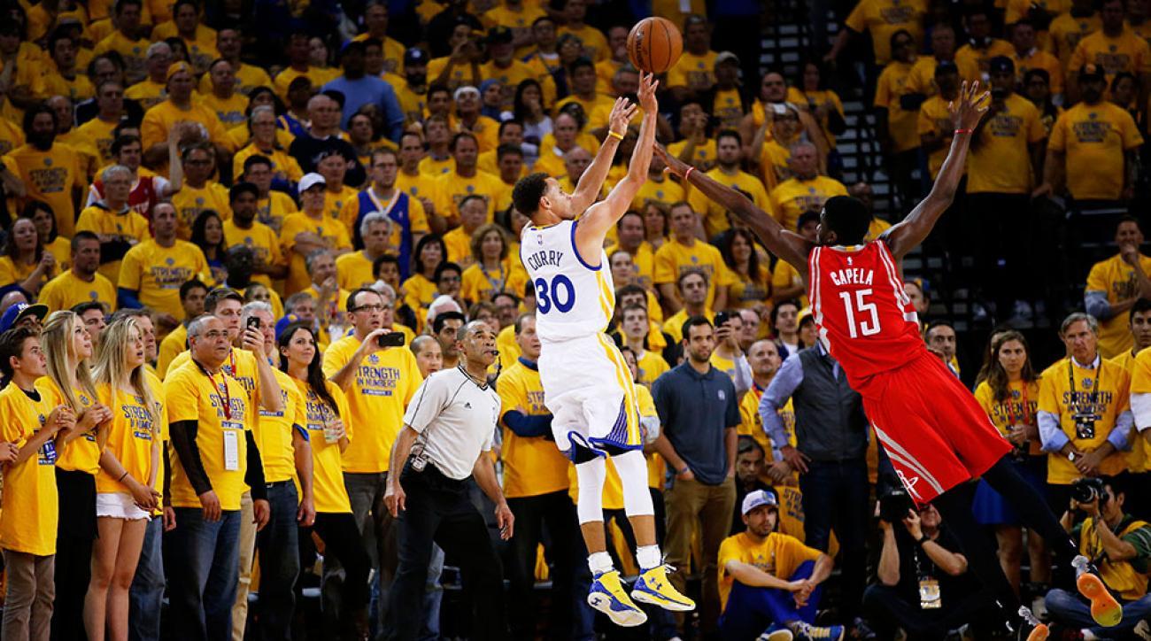 Warriors Stephen Curry buzzer beater Rockets