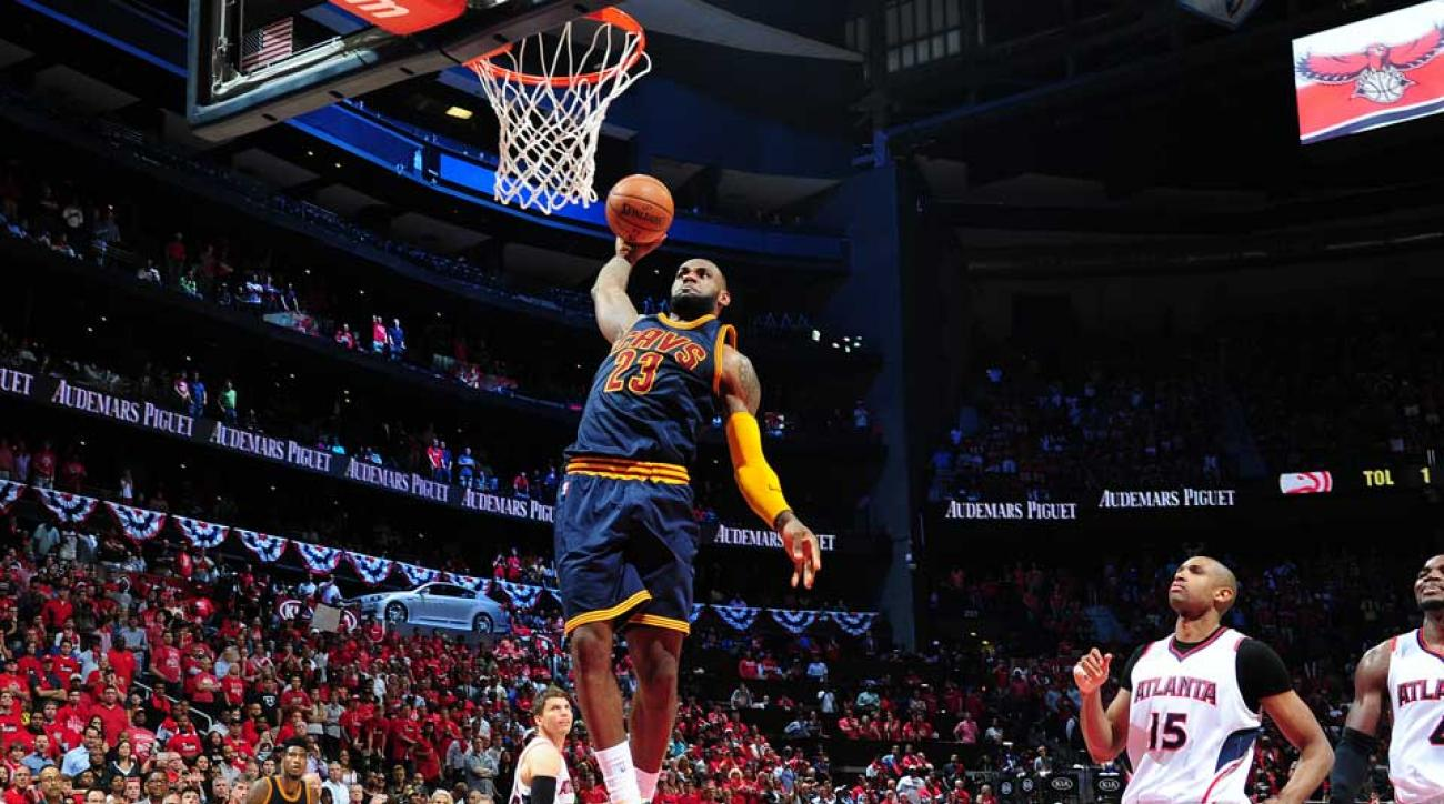 LeBron James seals Game 1 win over Hawks with dunk on Kyle ...