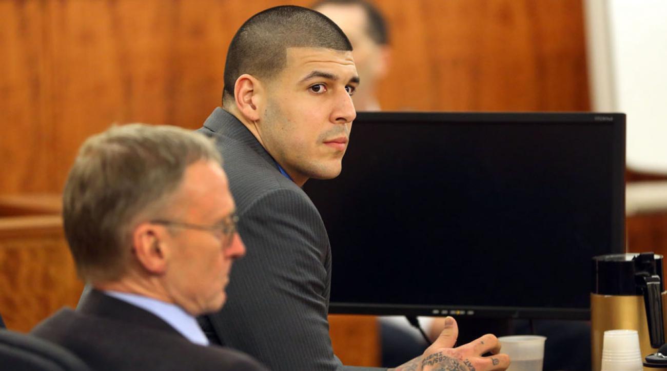 Aaron Hernandez pleaded not guilty to witness intimidation.