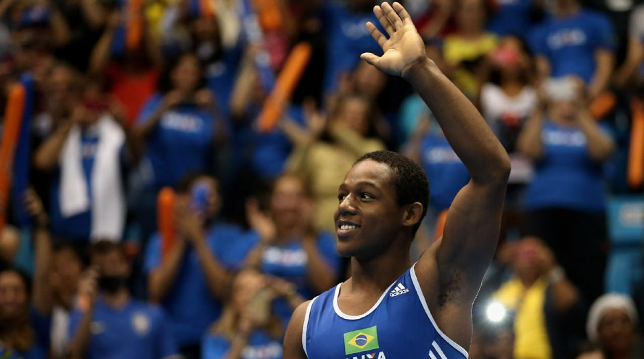Brazilian gymnast Angelo Assumpcao was the subject of a racist comment from teammates.