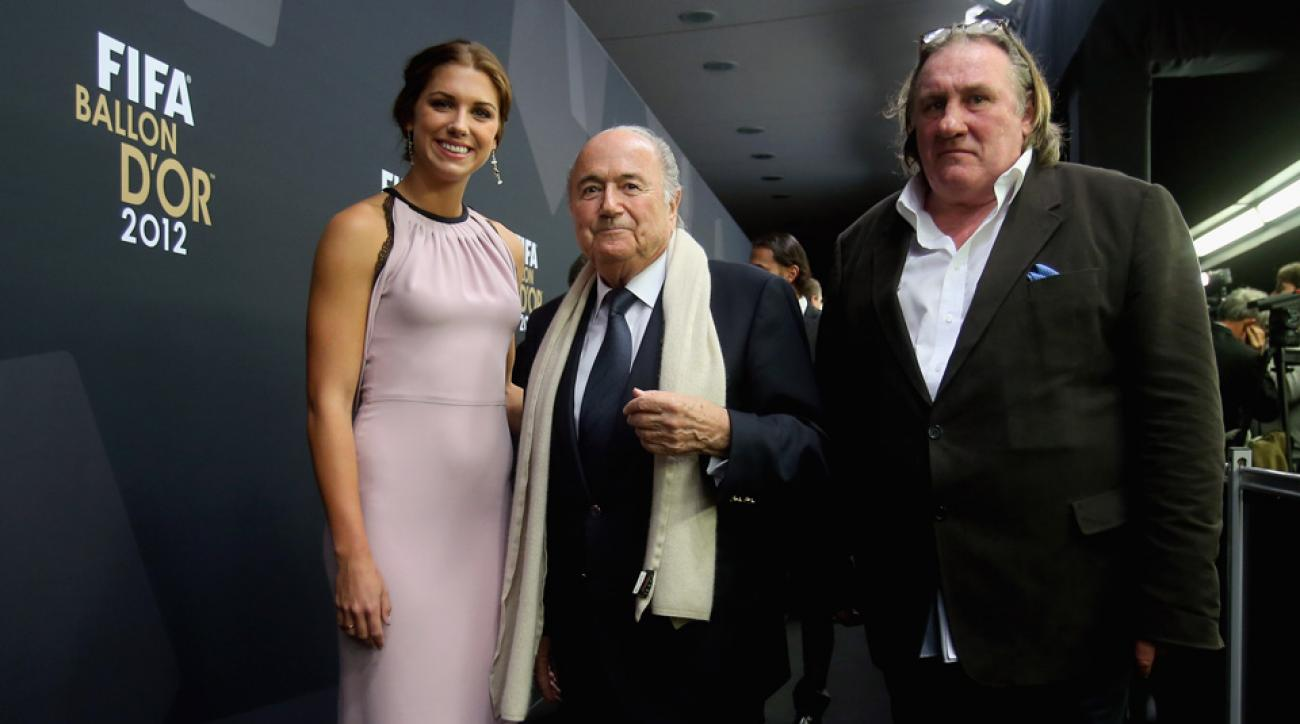 Alex Morgan says Sepp Blatter didn't recognize her.
