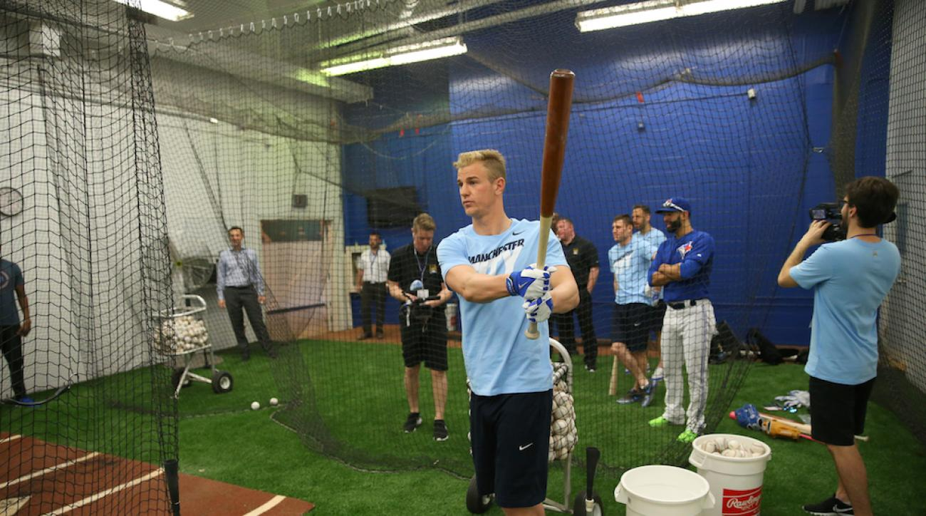 manchester city toronto blue jays joe hart batting practice