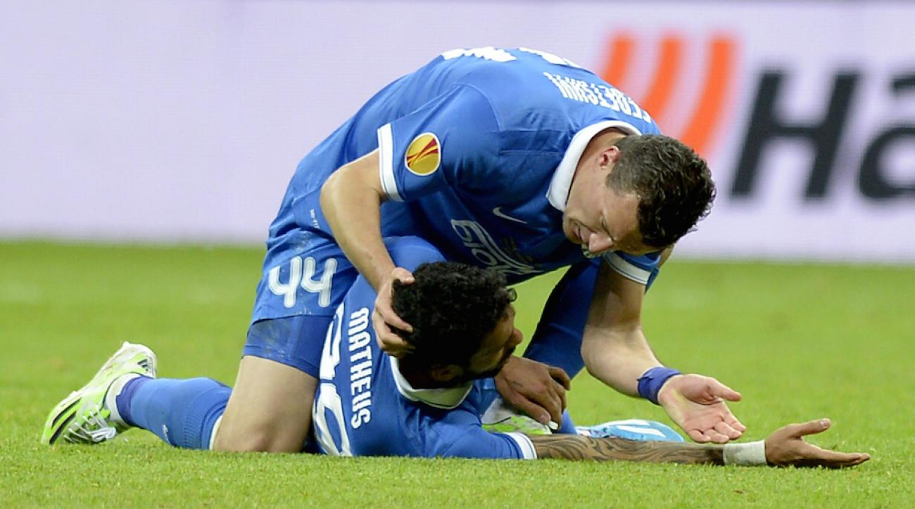matheus collapse europa league dnipro sevilla