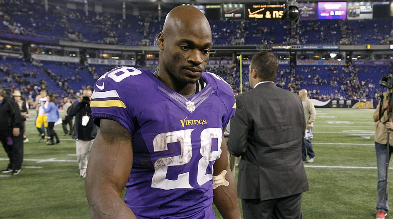Adrian Peterson skipping Vikings OTAs, but Mike Zimmer says he won't be traded