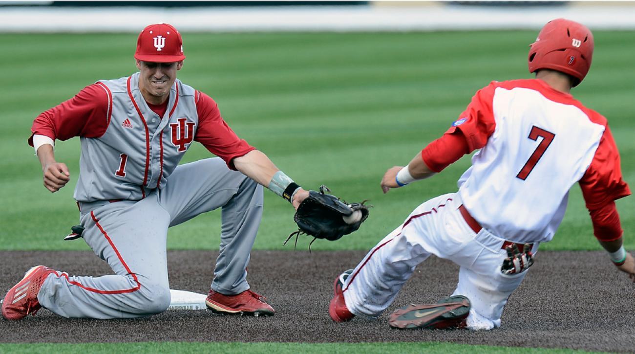 Indiana baseball triple play NCAA tournament