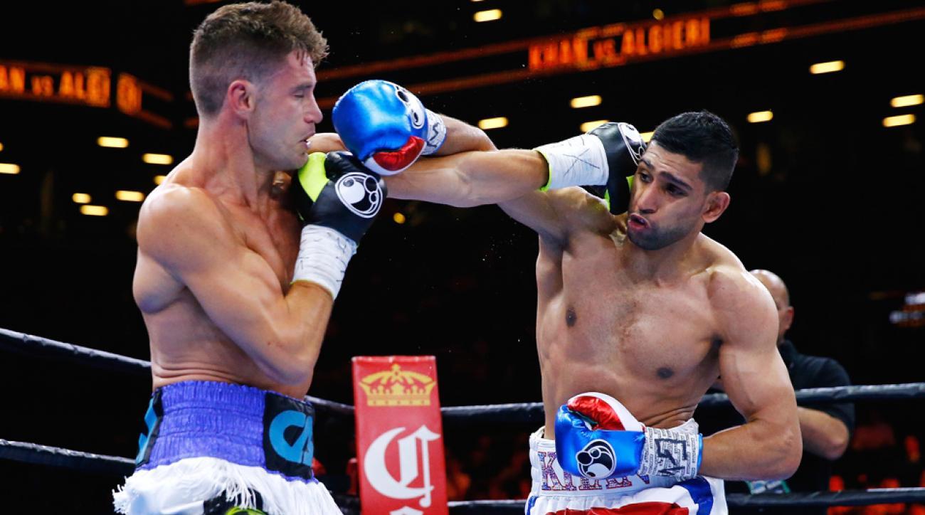 Amir Khan defeated Chris Algieri on unanimous decision Friday in New York.