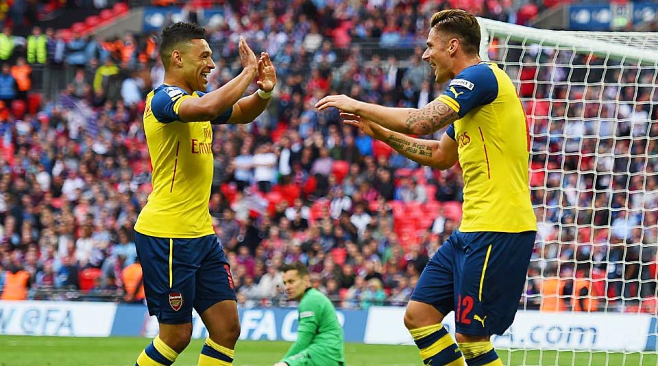 Olivier Giroud Arsenal goal FA Cup Final