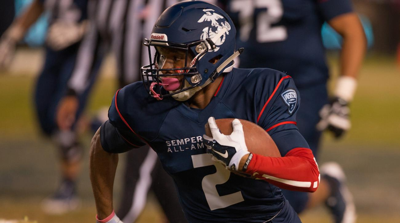 N.C. State commit Nyheim Hines during the Semper Fidelis All-American Bowl in Carson, Calif., on Jan. 4, 2015.