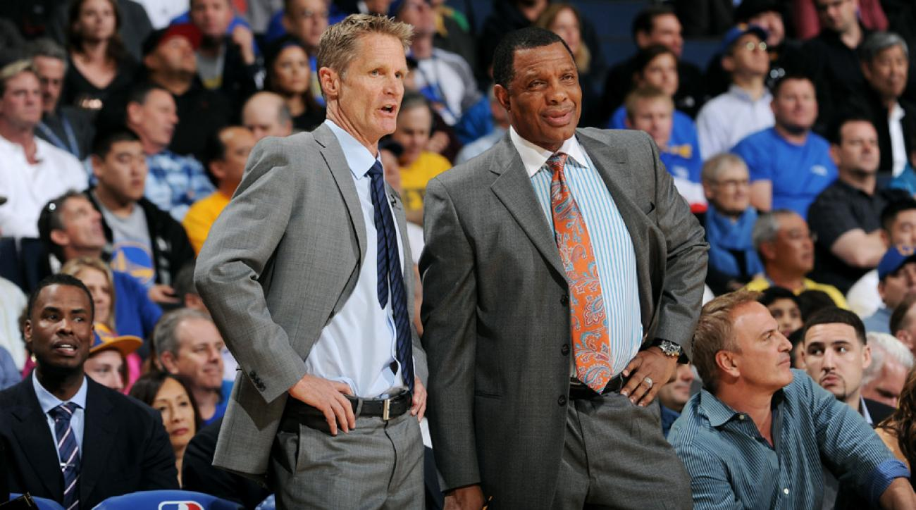 Alvin Gentry (right) was pranked by the Warriors about his new coaching gig.
