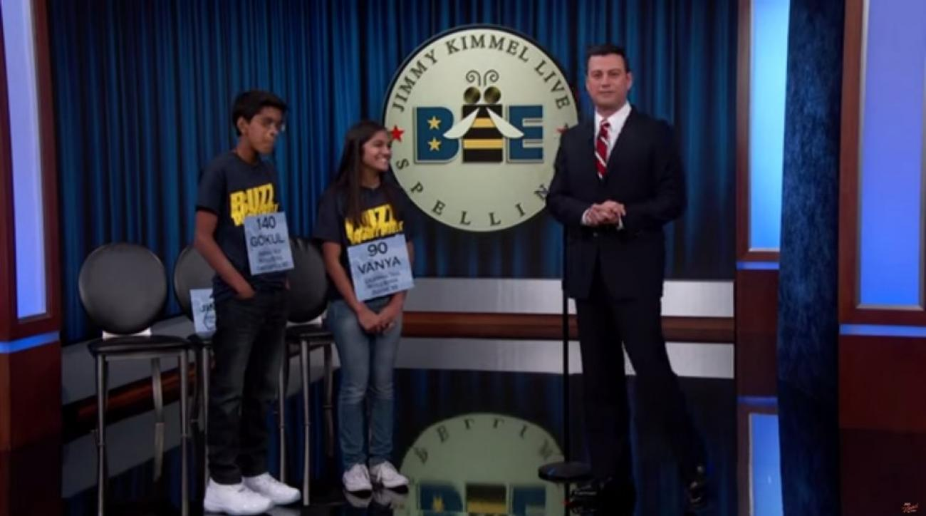 Jimmy Kimmel takes on the 2015 spelling champs