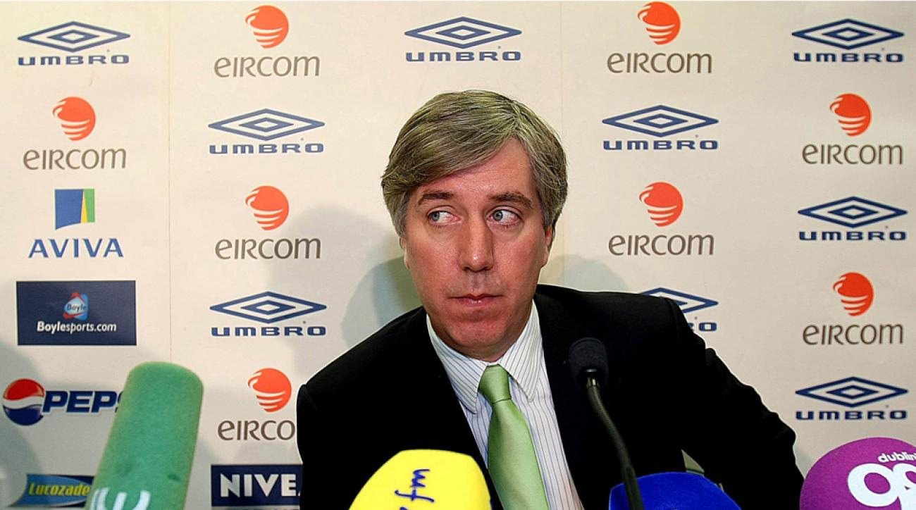 FAI CEO John Delaney after a controversial goal cost Ireland a shot at the 2010 World Cup