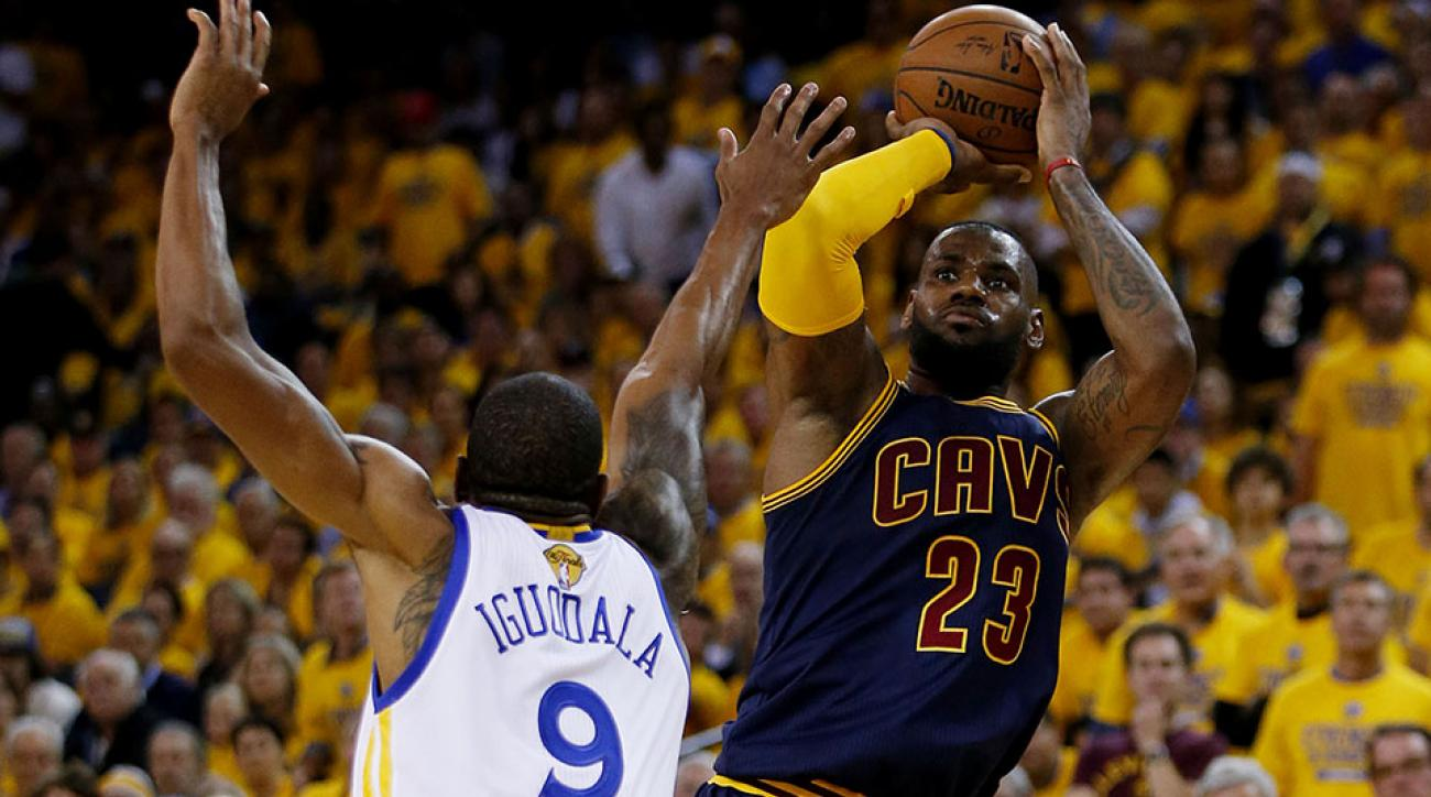 Warriors' defense pushing LeBron James' offensive burden to
