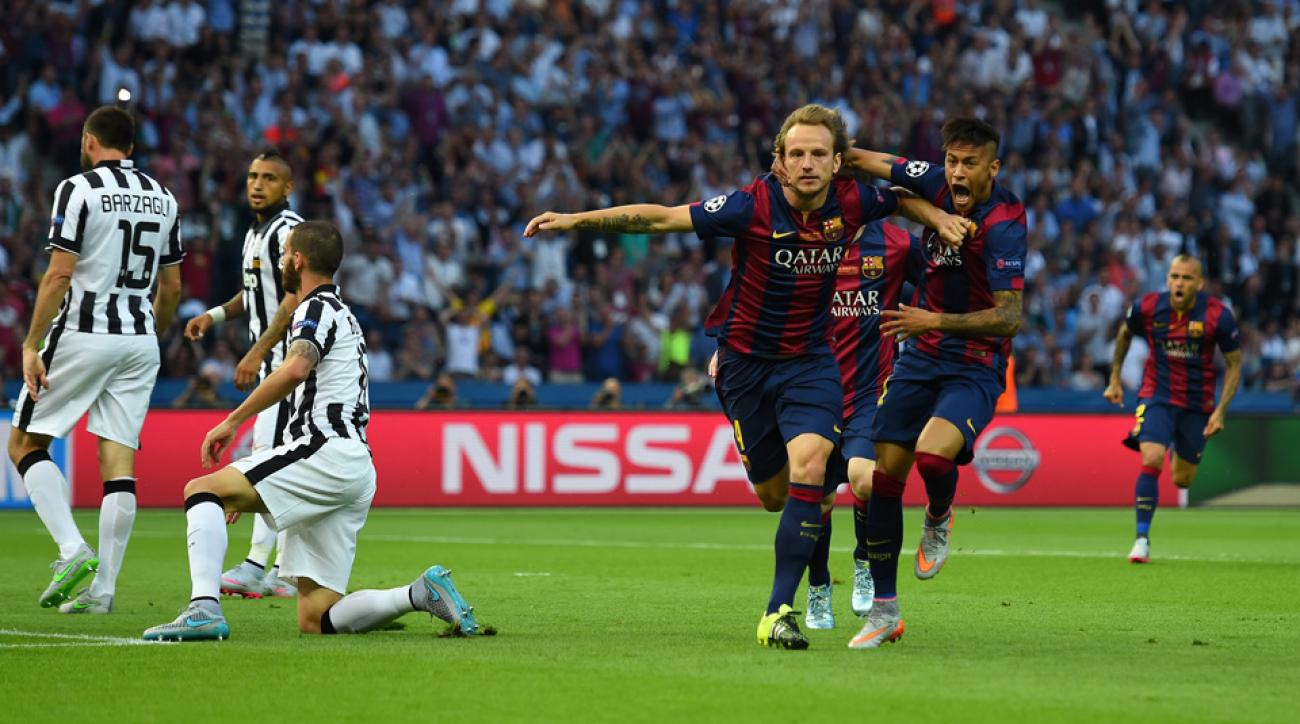 Barcelona scored early against Juventus in the Champions League final courtesy of Ivan Rakitic.