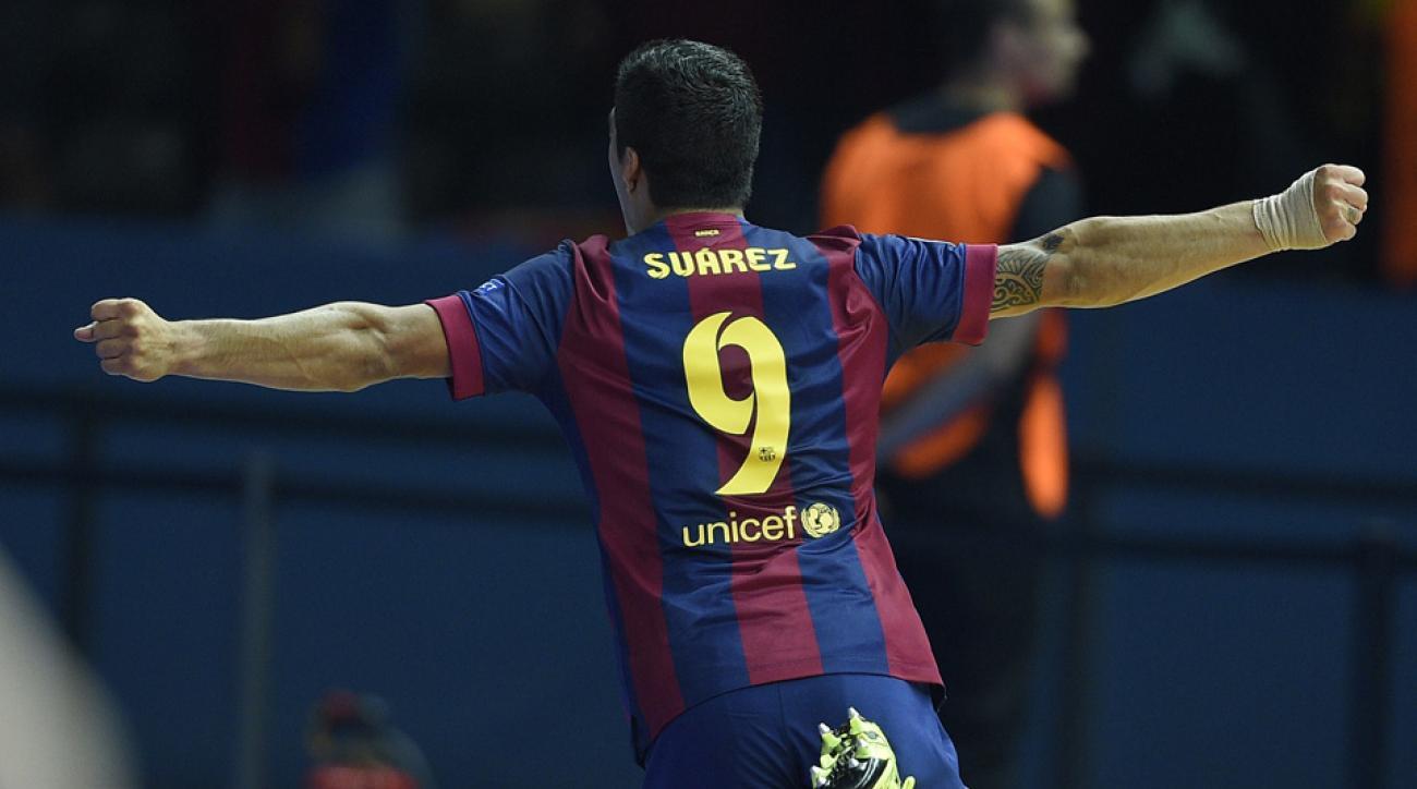 Luis Suarez gave Barcelona a second half lead against Juventus in the Champions League final.