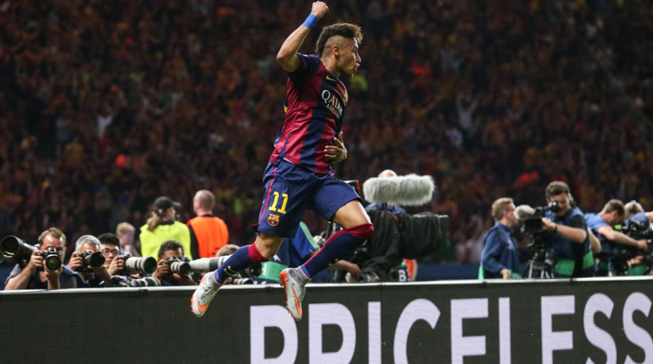 Neymar scored to ice the Champions League final for Barcelona against Juventus.