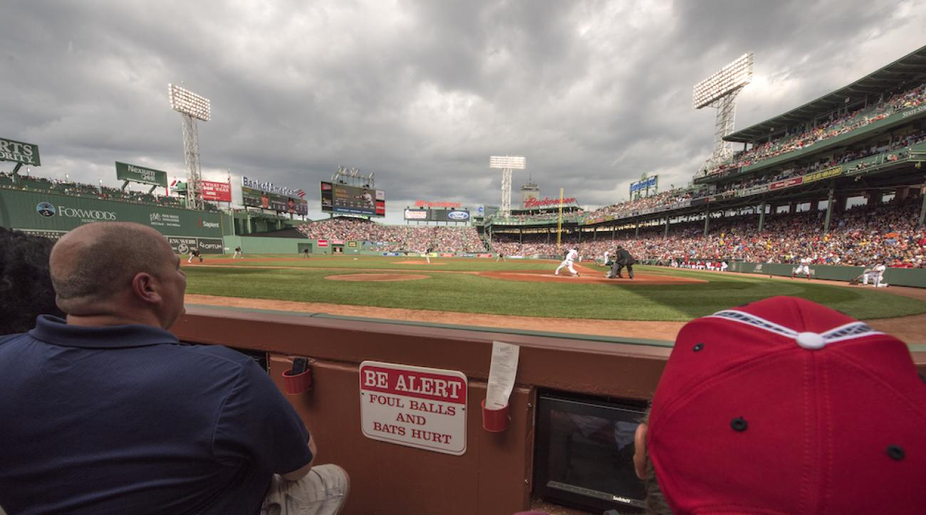 boston red sox fenway park mlb players protective netting