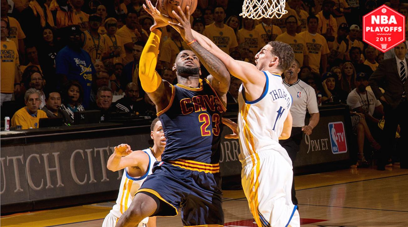 LeBron James, Cavaliers beat Warriors in OT of Game 2 to even NBA Finals.