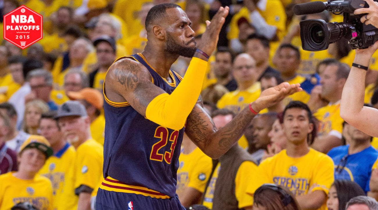 finest selection 64acf 39c4f LeBron James recorded a triple double in Cavaliers  95–93 Game 2 win against