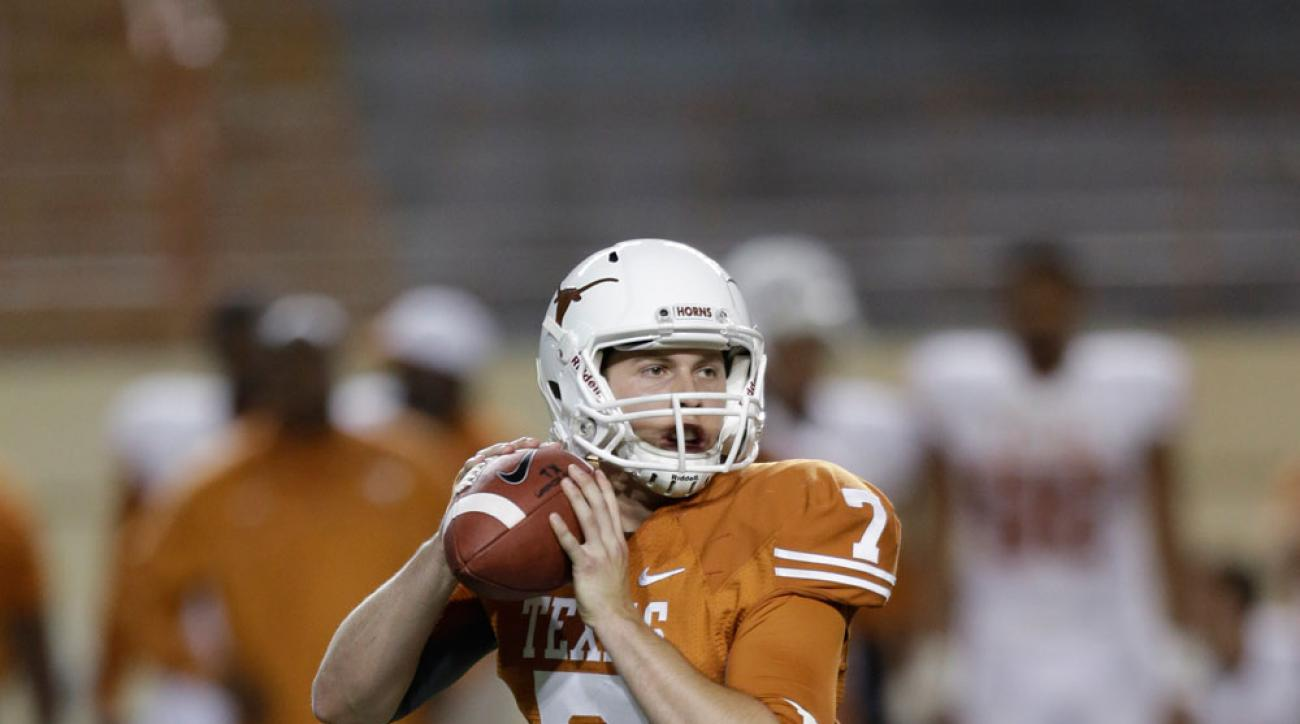 Connor Brewer during Texas' 2013 spring game.