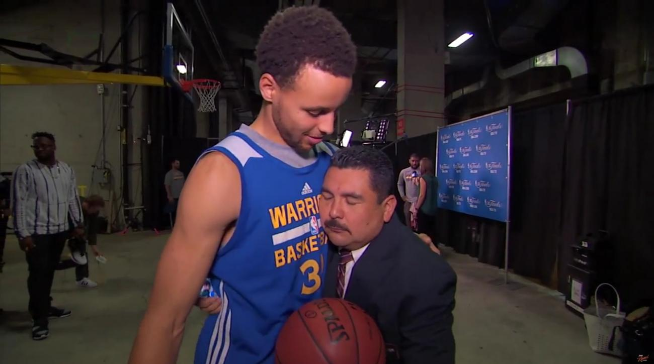NBA Finals Media Day with Jimmy Kimmel's Guillermo