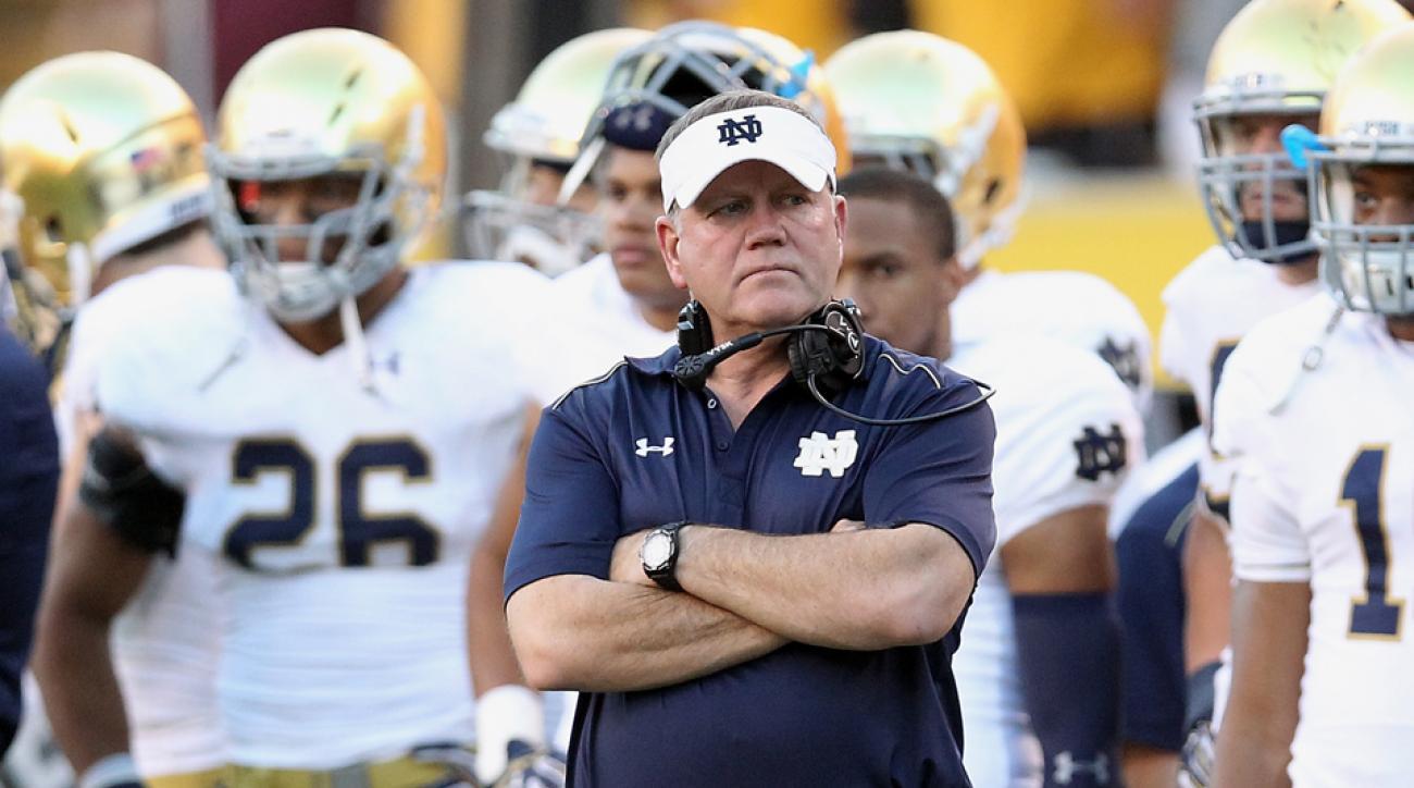 Notre Dame Brian Kelly grad transfer quarterback