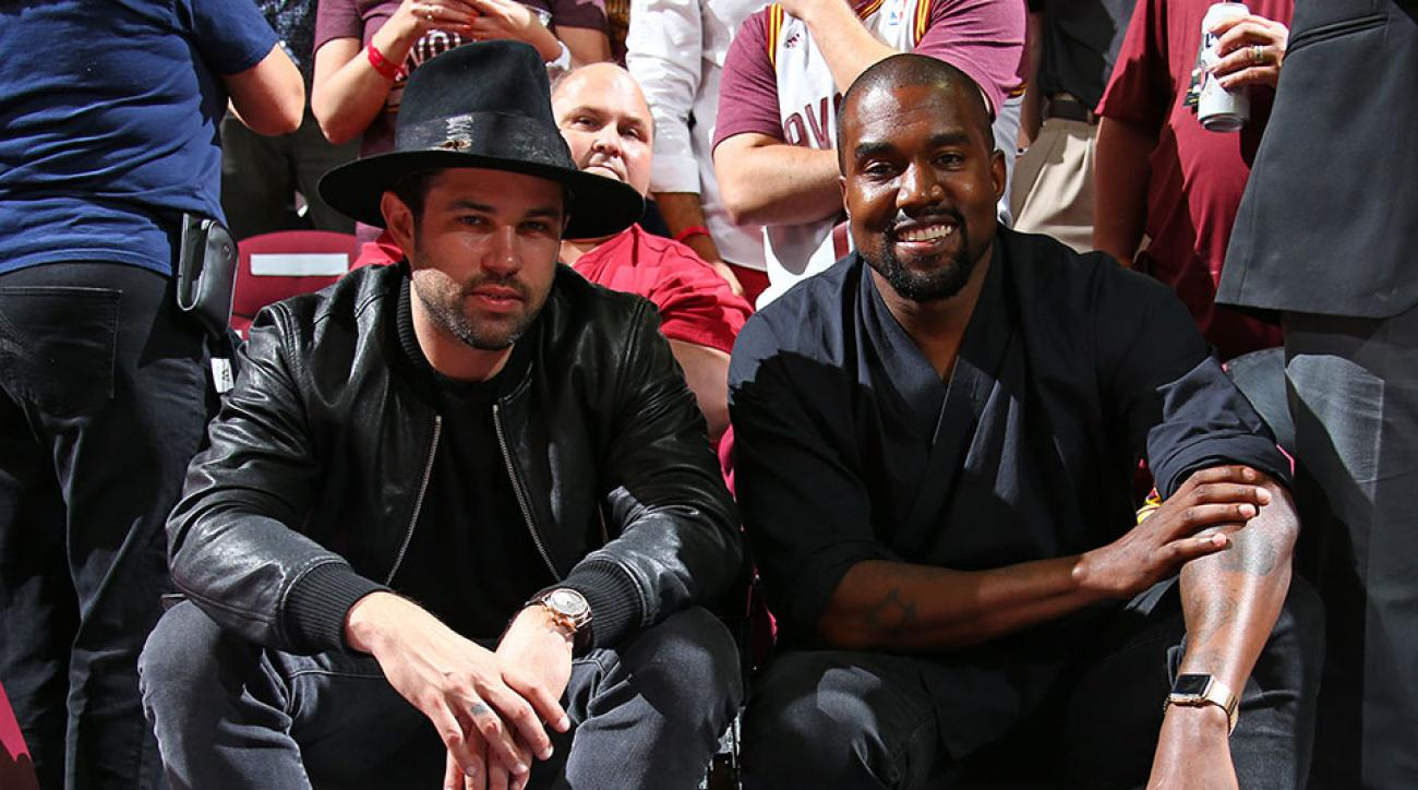 Kanye West NBA Finals Cavaliers Warriors Game 4