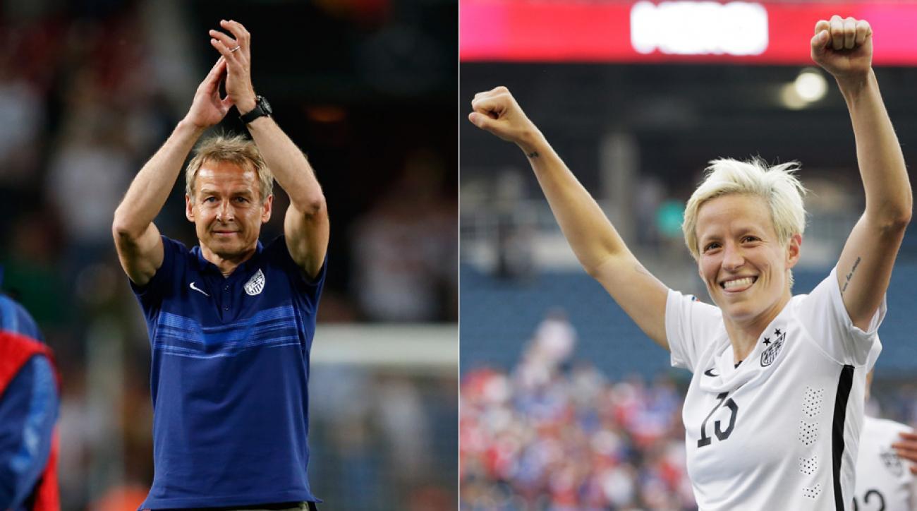 Jurgen Klinsmann, Megan Rapinoe