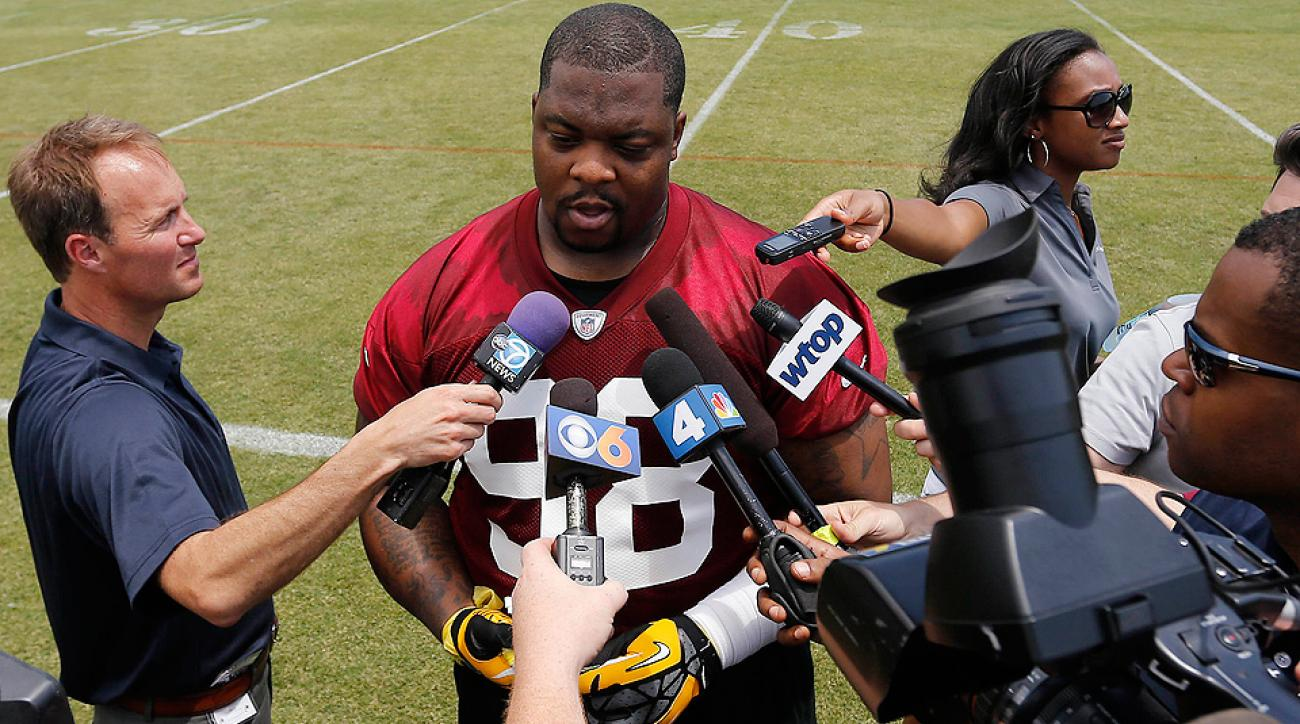 Redskins' Terrance Knighton motivated by free agency, weight issues