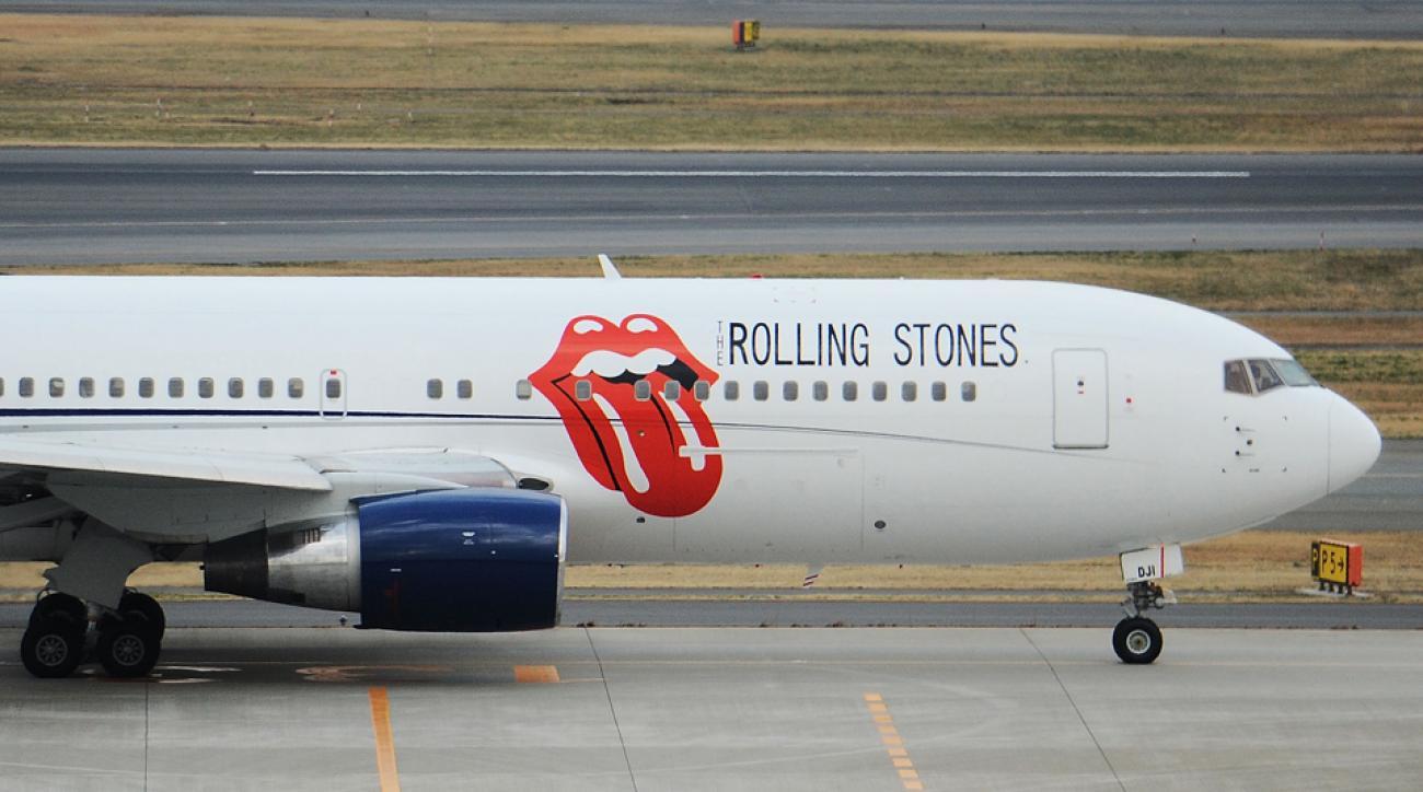 Rolling Stones jet Florida baseball College World Series