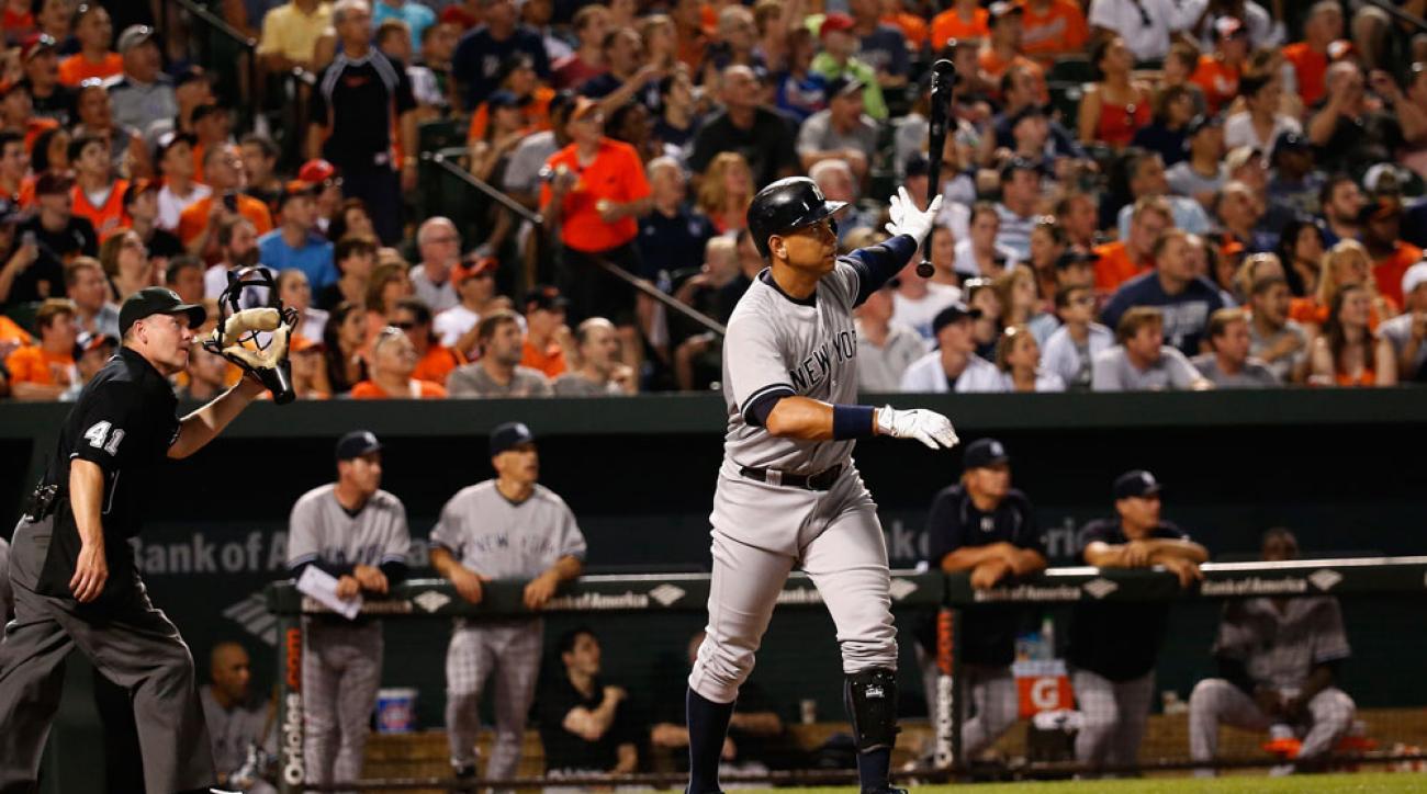 alex rodriguez home run yankees orioles