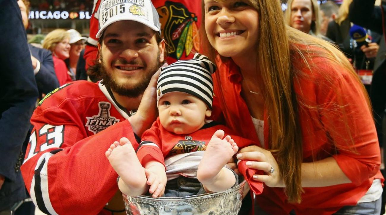 Blackhawks families celebrate the Stanley Cup