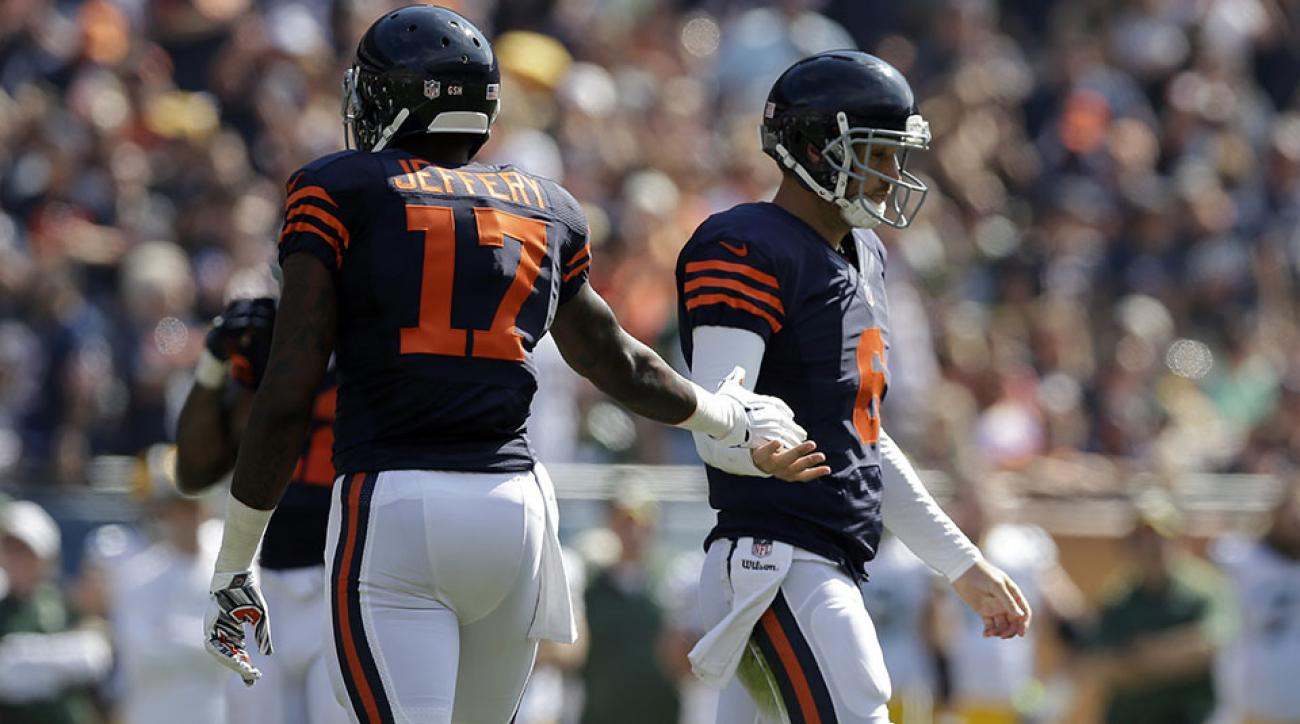 chicago bears jay cutler alshon jeffrey praise