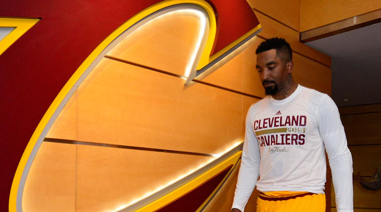 NBA Finals Cavaliers JR Smith scooter