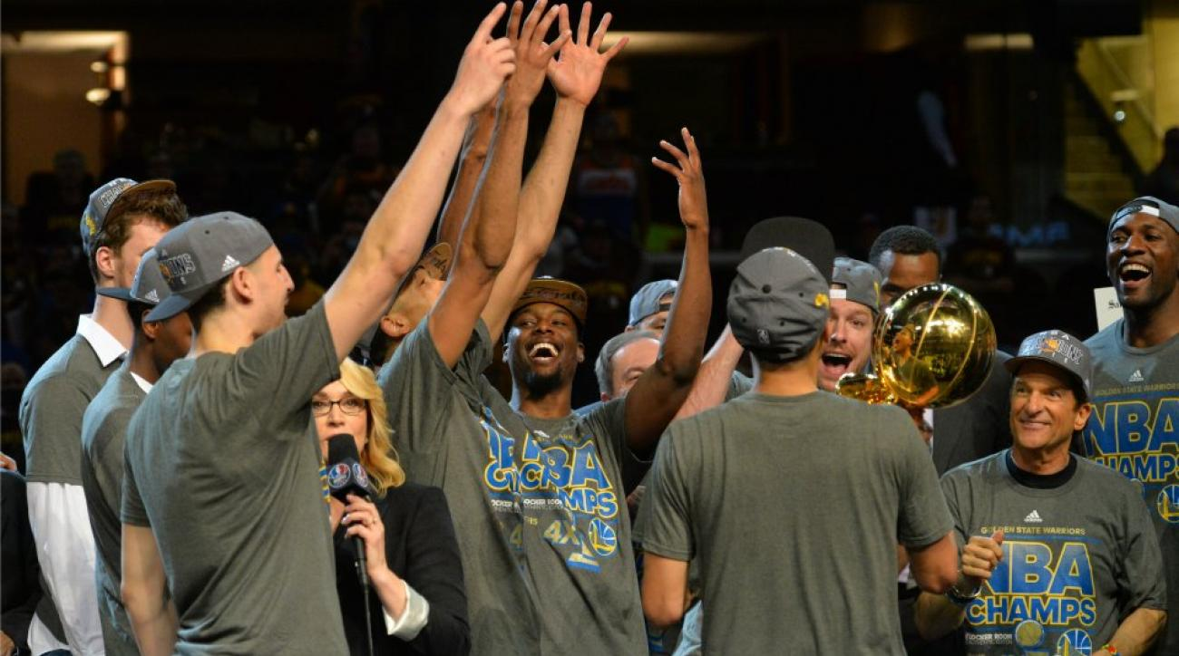Warriors sing along with CoCo once again after Finals win