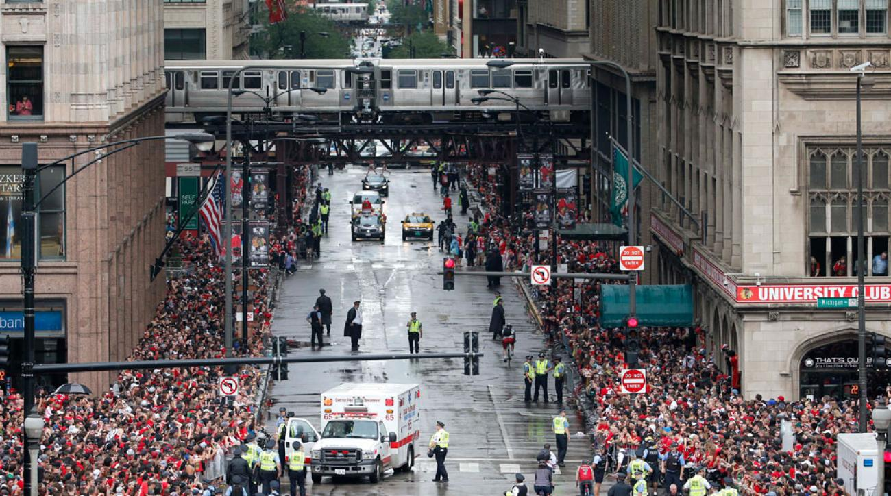 chicago blackhawks parade stanley cup
