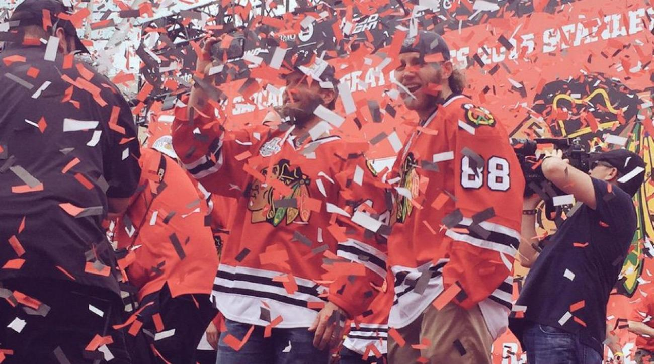 Blackhawks celebrate Stanley Cup with parade