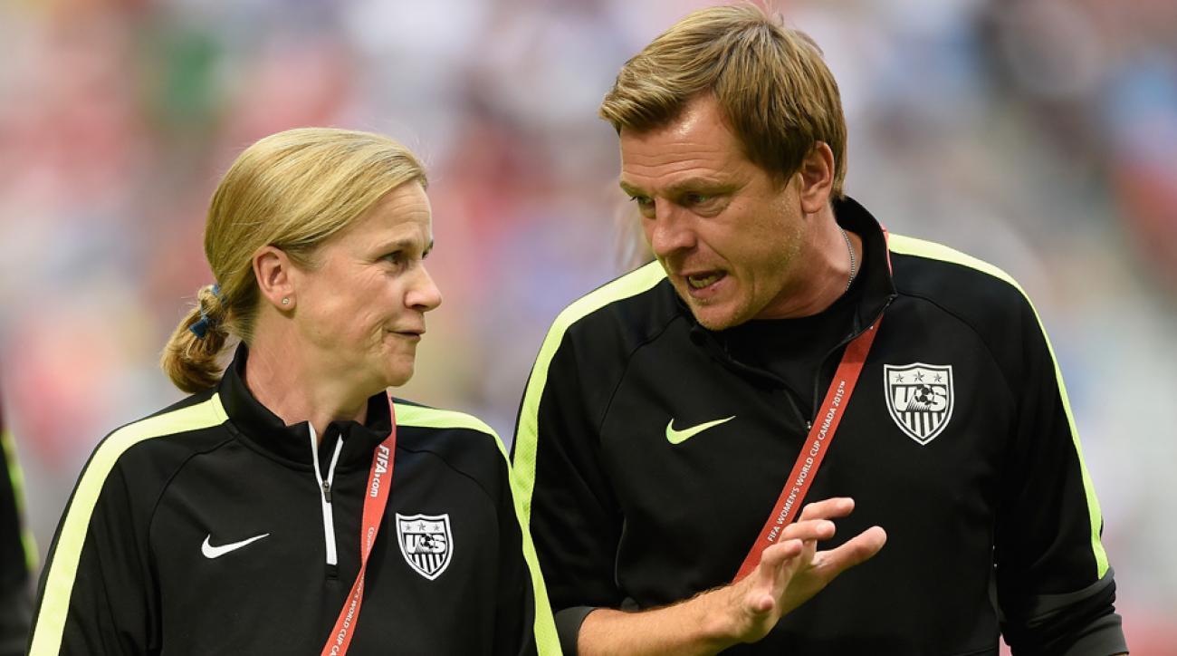 USA coaches Jill Ellis, Tony Gustavsson