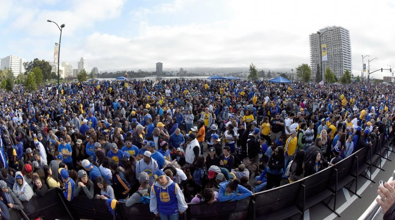 Golden State Warriors celebrate with parade and rally