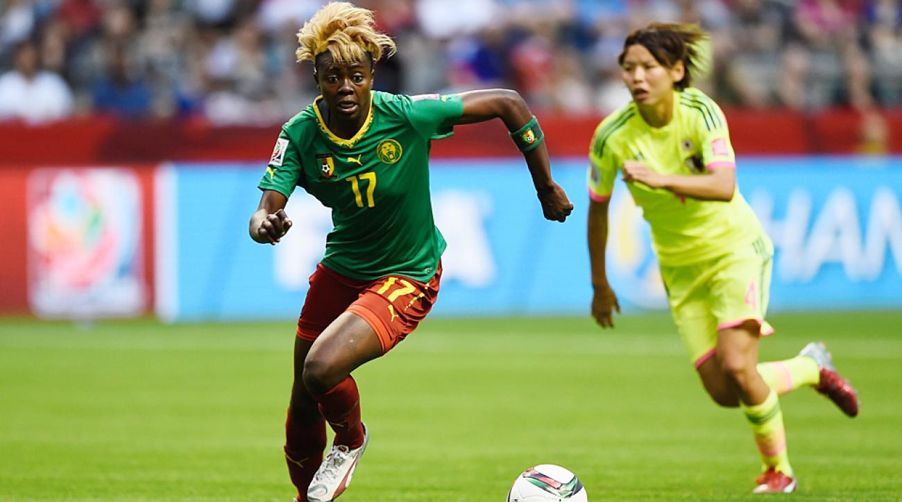 Cameroon's Gaelle Enganamouit became one of the breakout stars of the World Cup in the opening round.