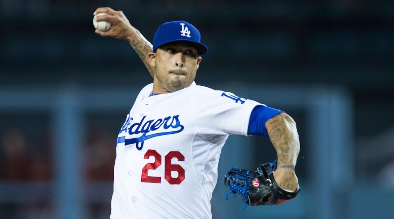 Sergio Santos in a game with the Los Angeles Dodgers on May 1.