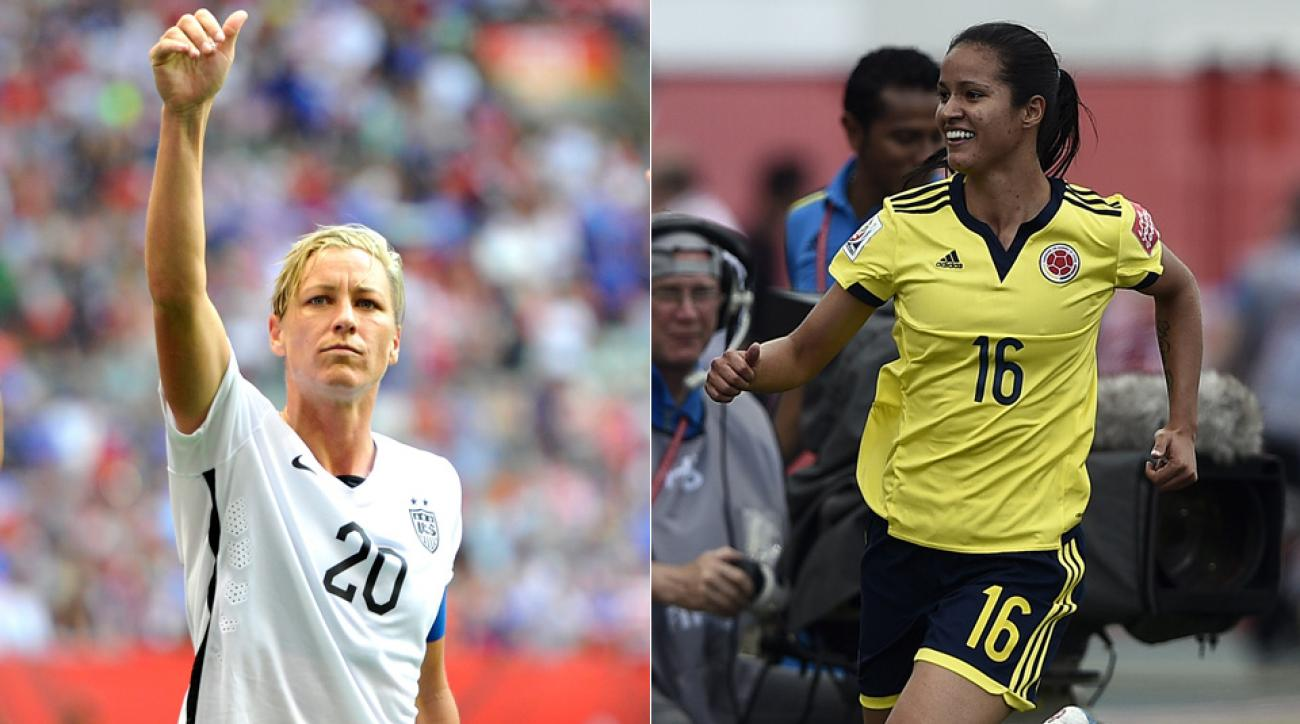 USA's Abby Wambach, Colombia's Lady Andrade renew acquaintances in the Women's World Cup round of 16