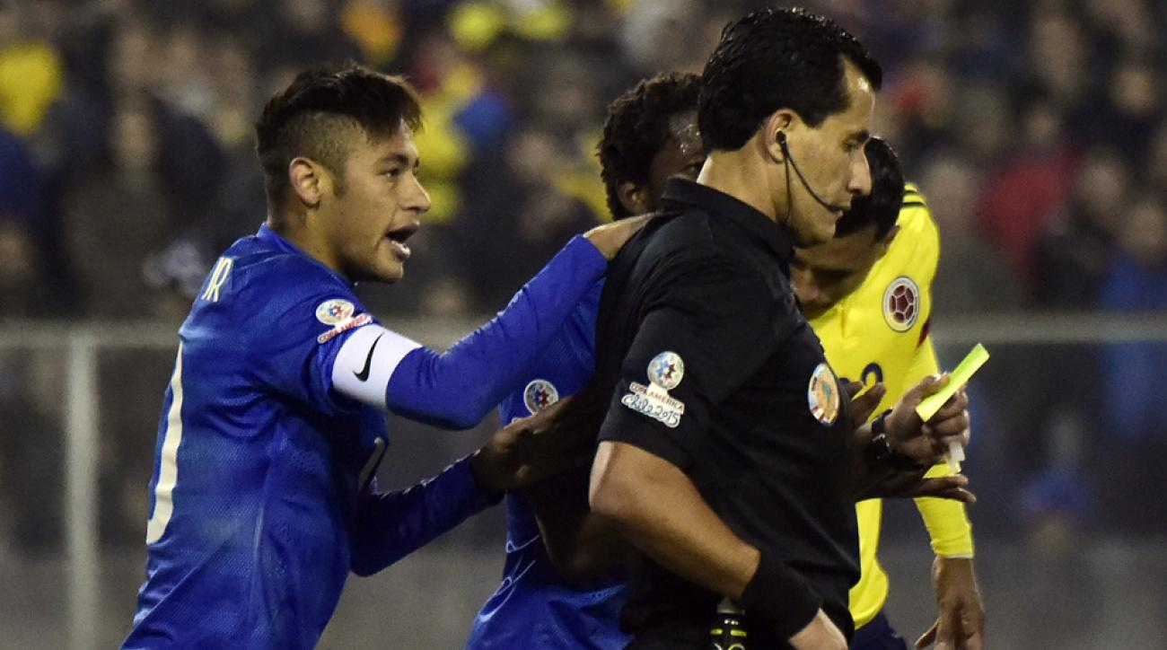 Neymar denies confronting the referee in the tunnel after being sent off in Copa America