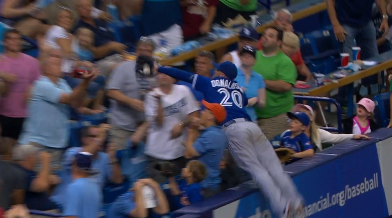 blue jays josh donaldson diving catch stands video