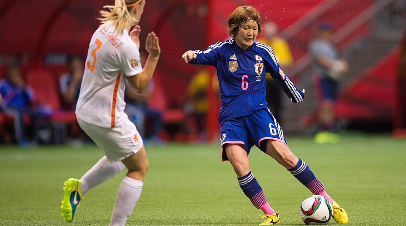 Mizuho Sakaguchi scored the game-winning goal in Japan's win over the Netherlands.